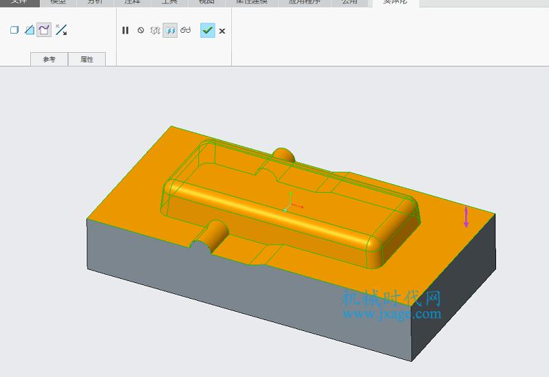 Creo如何使用组件法进行拆模?