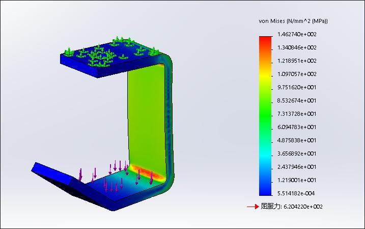 SolidWorks Simulation 有限元分析实例练习(9):小特征对分析结果的影响(2)
