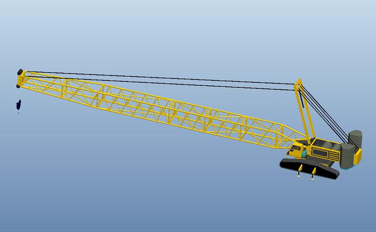 Proe起重机模型下载