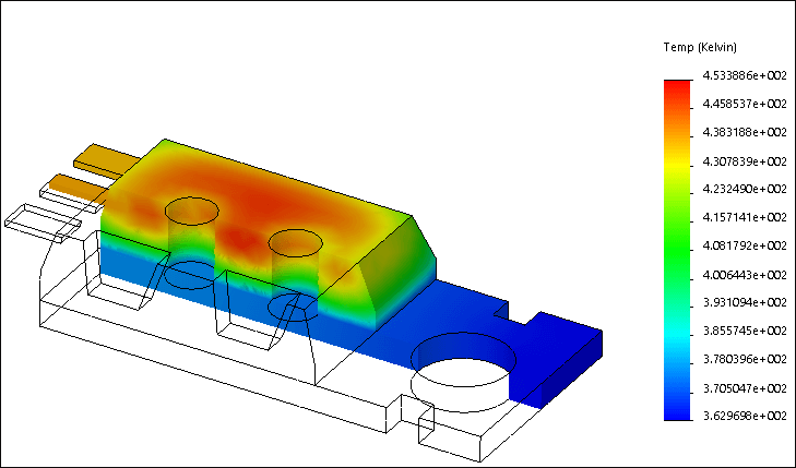 SolidWorks Simulation 有限元分析实例练习(25):热力分析